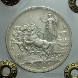 Vitt. Eman. III - 2 Lire 1917 N.C.