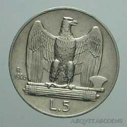 Vitt. Eman. III - 5 Lire 1926 R - B.L.D.