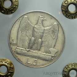 Vitt. Eman. III - 5 Lire 1928 - 2R