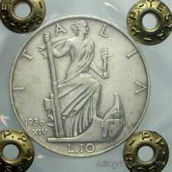 Vitt. Eman. III - 10 Lire 1936 Imp A.S.