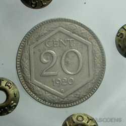 Vitt. Eman. III - 20 Cent 1920 Esa. Lis.