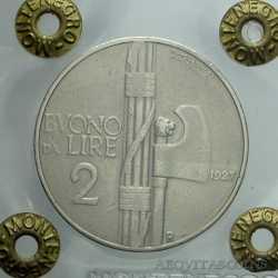 Vitt. Eman. III - 2 Lire 1927 A.S. - RRRRR -