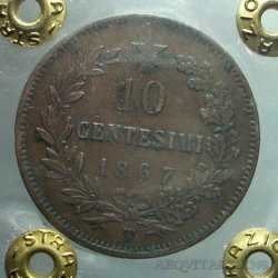 Vitt. Eman. II - 10 Cent 1867 T