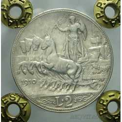 Vitt. Eman. III - 2 Lire 1910 R