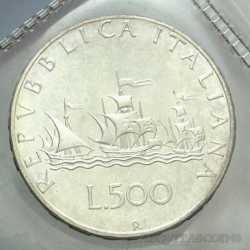 500 Lire 1970 - Argento Caravelle