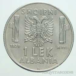 Albania - 1 LEK 1939 Magn