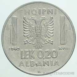 Albania - 0,20 LEK 1940