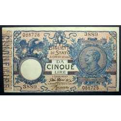 5 Lire Matrice 1918 R