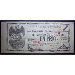 Mexico - 1 Peso 1916 Oaxaca