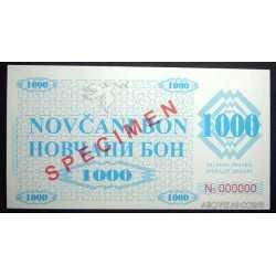 Serbia - 1.000 Dinara Specimen