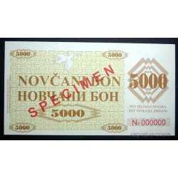 Serbia - 5.000 Dinara Specimen
