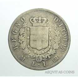 Vitt. Eman. II - 1 Lira 1867 M St