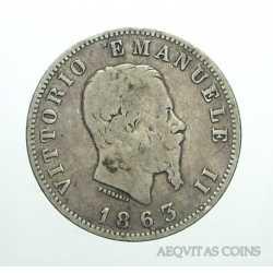 Vitt. Eman. II - 1 Lira 1863 M St