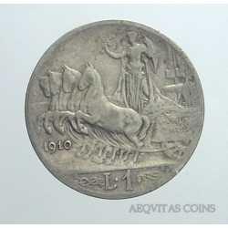 Vitt. Eman. III - 1 Lira 1910