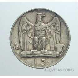 Vitt. Eman. III - 5 Lire 1926 B.L.D.