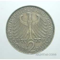 Germany - 2 Mark 1961 F