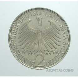Germany - 2 Mark 1969 F