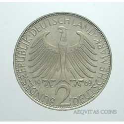 Germany - 2 Mark 1969 F