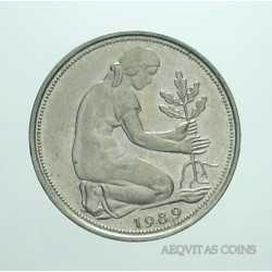 Germany - 50 Pfennig 1989 D