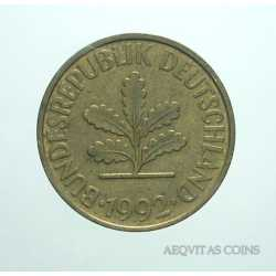 Germany - 10 Pfennig 1992 F