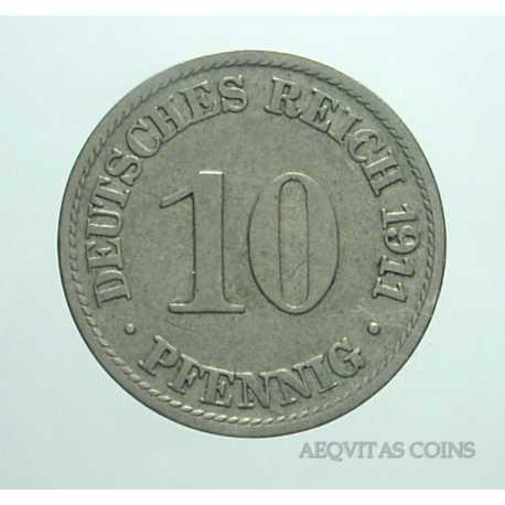 Germany - 10 Pfennig 1911 A