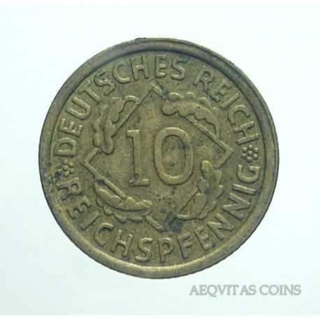 Germany - 10 Reichspfennig 1935 J