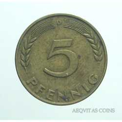 Germany - 5 Pfennig 1950 D