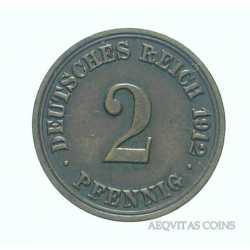 Germany - 2 Pfennig 1912 A