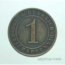 Germany - 1 Reichspfennig 1925 F