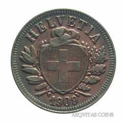 Switzerland - 2 Rappen 1909