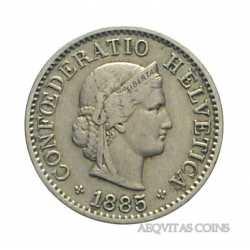 Switzerland - 5 Rappen 1885