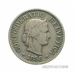 Switzerland - 5 Rappen 1898
