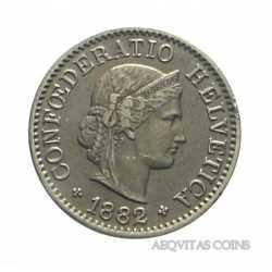 Switzerland - 5 Rappen 1882