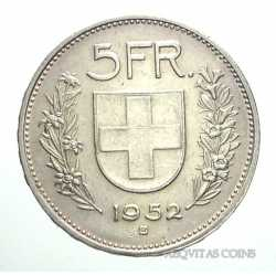 Switzerland - 5 Francs 1952