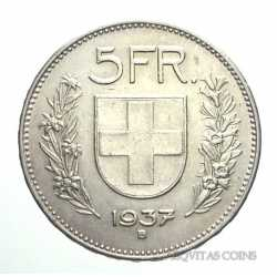 Switzerland - 5 Francs 1937