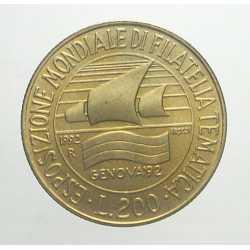 200 Lire 1992 - Filatelia