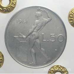 50 Lire 1961 FDC