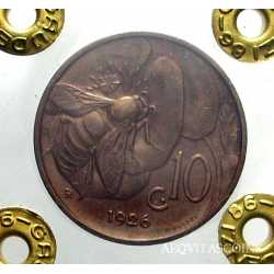 Vitt. Eman. III - 10 Cent Ape 1926