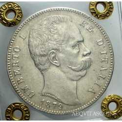 Umberto I - 5 Lire 1879 SPL