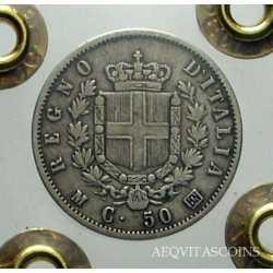 Vitt. Em. II - 50 Cent 1863 M St.