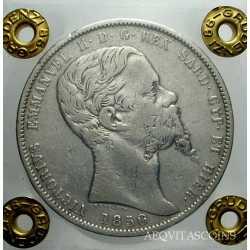 Vitt. Em. II - 5 Lire 1850 Ge