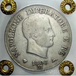 Napoleone I - 5 Lire 1808 M