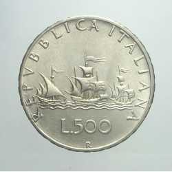 500 Lire 1965 - Argento Caravelle