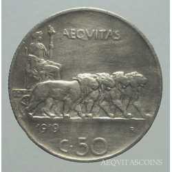 Vitt. Eman. III - 50 Cent Leoni R. 1919