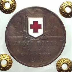 Vitt. Eman. III - 10 cent 1915 Croce Rossa