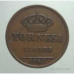 Napoli - 5 Tornesi 1858