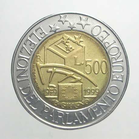 500 Lire 1999 - Parlamento Europeo