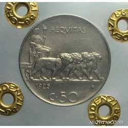 Vitt. Eman. III - 50 Cent Leo. 1925 L