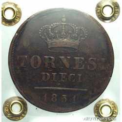 Napoli - 10 Tornesi 1851