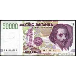 50.000 Lire Bernini 1992